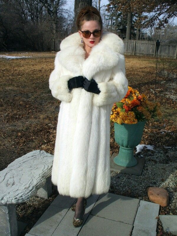 White Fox Fur Coat White Fox Fur Rocks Fur Fur Coat