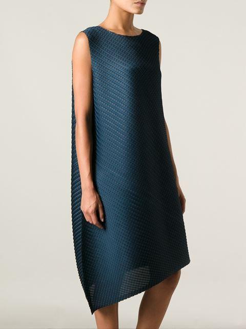 Pleats Please By Issey Miyake Asymmetric Textured Dress - Tessabit - Farfetch.com