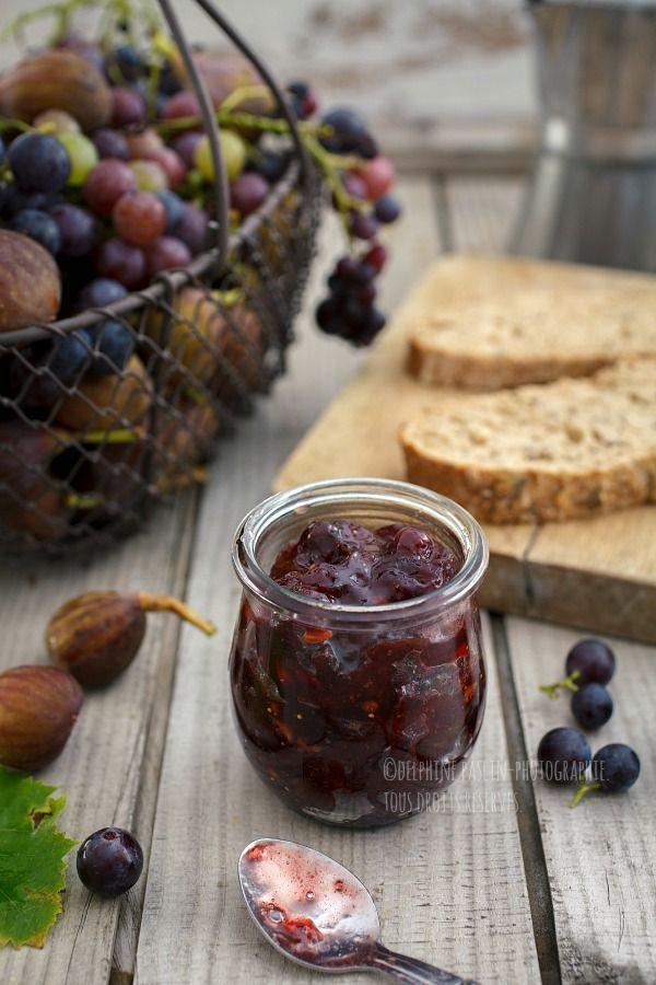Confiture de raisins et figues