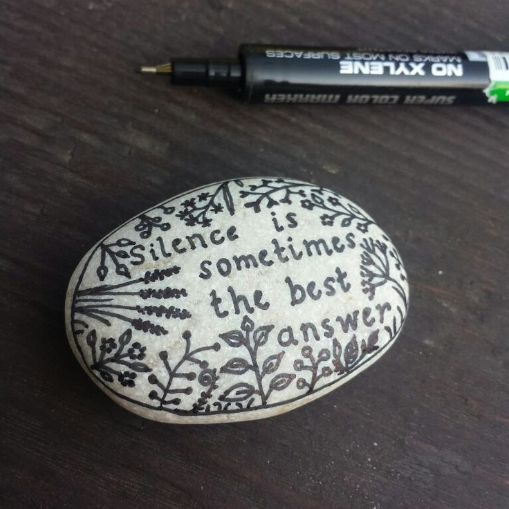 """Silence is sometimes the best answer "" Dalai Lama .. Drawing on the rock .. lazy afternoon"