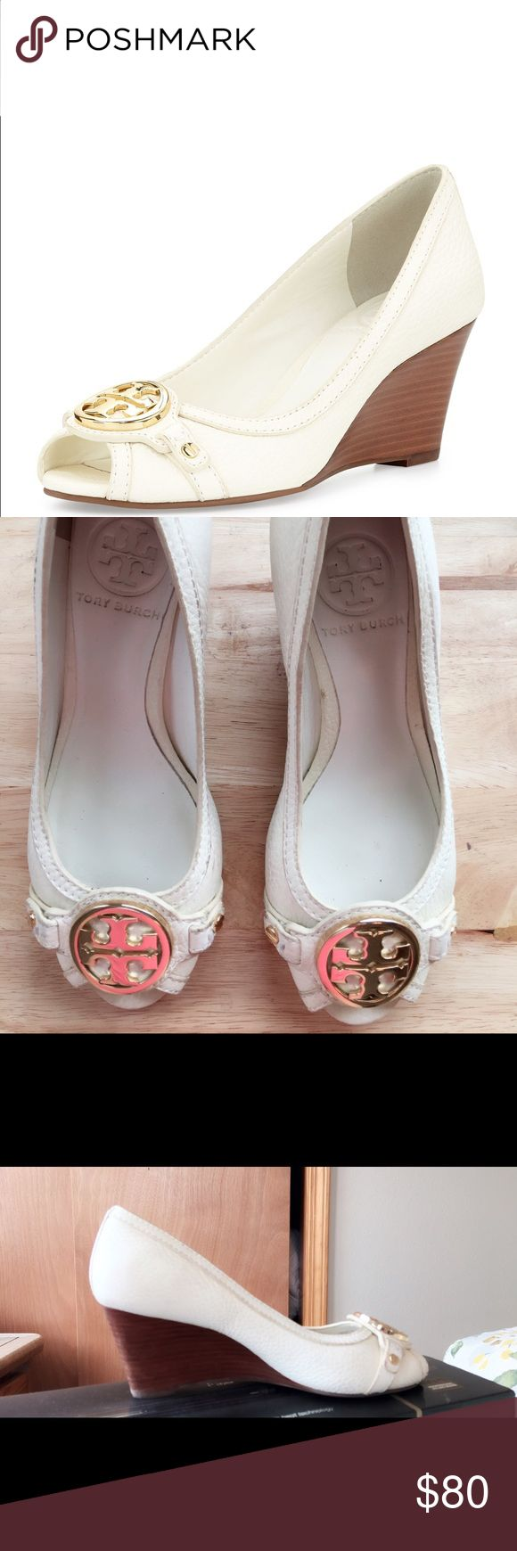 worn twice:) no trades pls:) Tory Burch Shoes Wedges