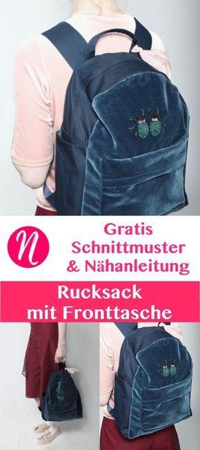 Rucksack für Kleine und Große – Freebook Renate Kieras