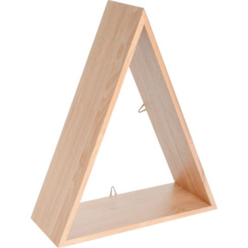 Set 3 repisas Triangulo 39x12x30 cm madera