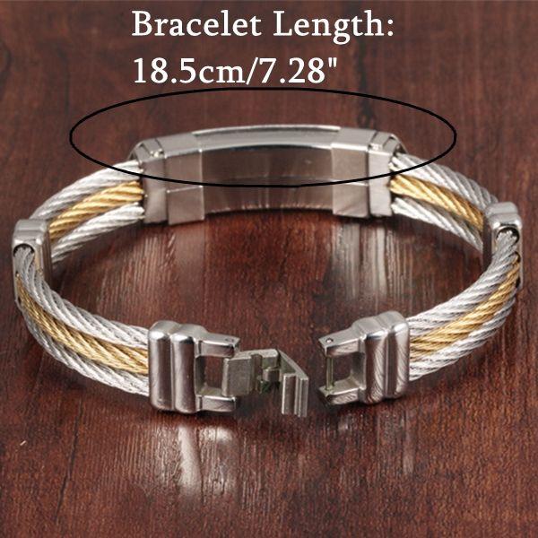 Designer 316L Stainless Steel Bracelet Cross Wristband Jewelry Bracelet Gift For Men - NewChic