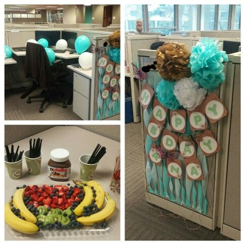 Best 25 cubicle birthday decorations ideas on pinterest for B day decoration