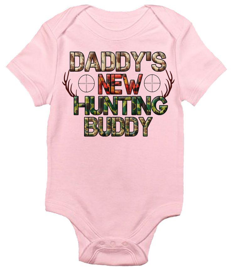 Daddy's New Hunting Buddy One-piece Baby Bodysuit