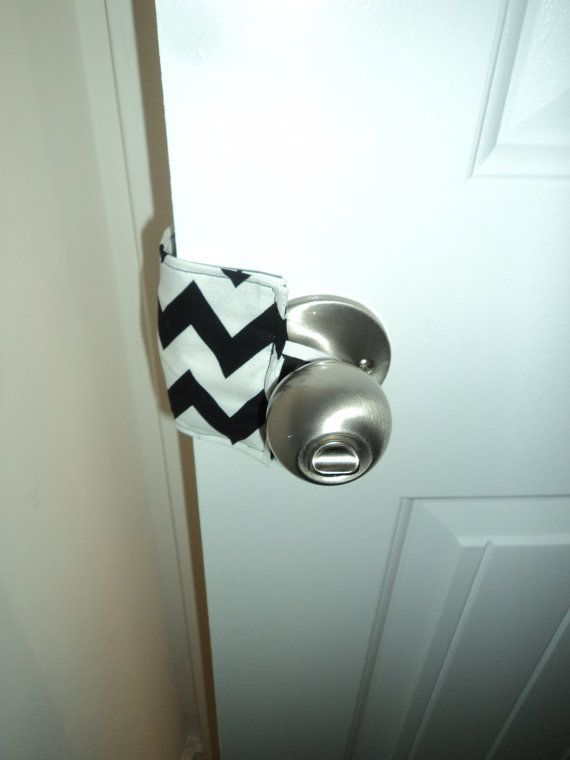 Great Idea for home daycare so kids don't get their fingers pinched in the bathroom door. Baby Nursery Door Jammer by cheerfuldianna80 on Etsy, $5.00