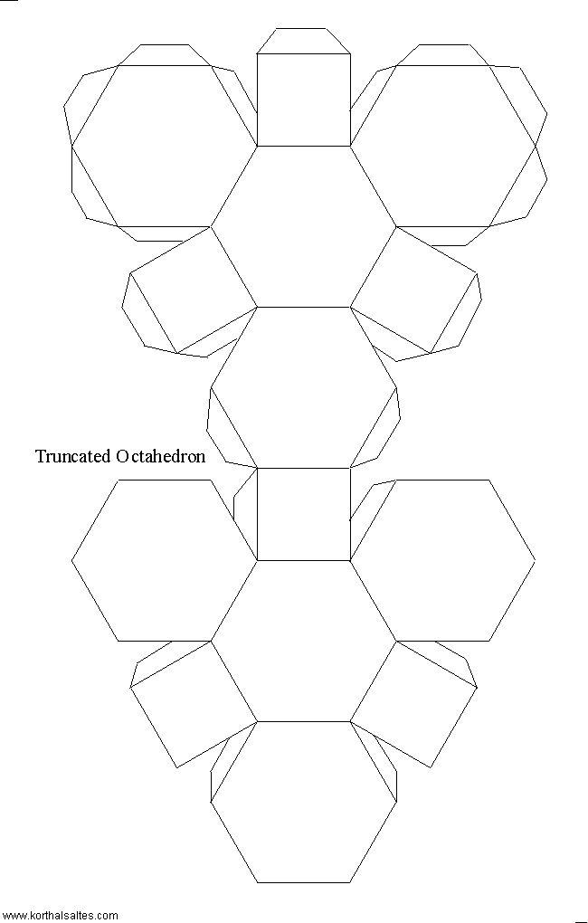 Paper Model of a Truncated Octahedron