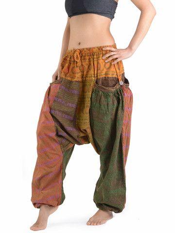Nepalese Print Harem Pants