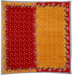 QUILT 250X270 INDONESIAN RED MUSTARD