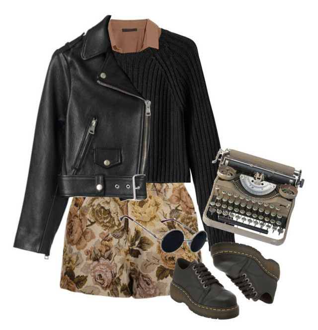 """Typewriter"" by junk-food ❤ liked on Polyvore featuring Donna Karan, Retrò, Monki, Dr. Martens, Acne Studios, women's clothing, women's fashion, women, female and woman"