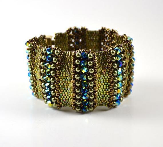 Nakita Bracelet Beading Pattern Etsy Beaded Bracelet Patterns Jewelry Patterns Bracelet Patterns