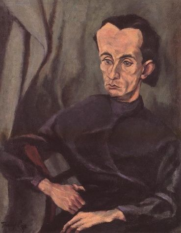 Tihanyi, Lajos - Portrait of Lajos Kassák - Expressionism - Oil on canvas - Portrait - Hungarian National Gallery - Budapest, Hungary