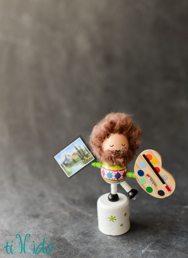 Bob Ross Collapsing/Dancing Wooden Toy Tutorial
