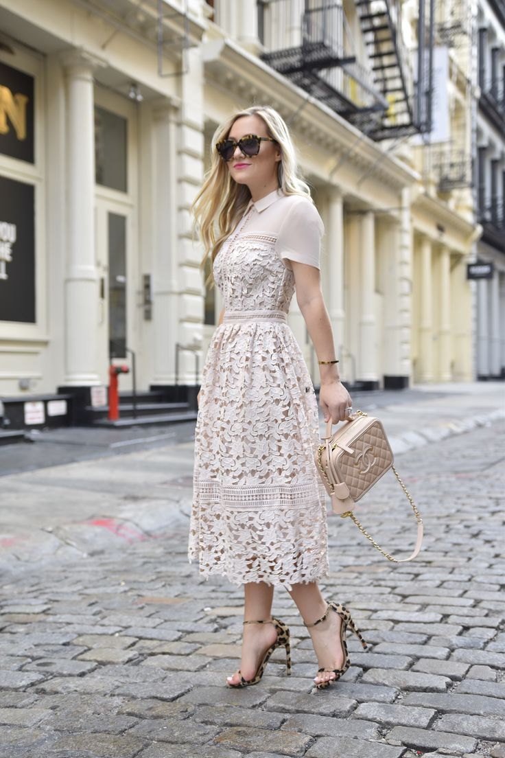 NYFW, Lace-Dress, Lace-Midi-Dress, Asos-Lace-Dress, Chanel-bag, Stuart-Weitzman-Heels, Stuart-Weitzman, Stuart-Weitzman-Nudist, Soho, NYC, Streetstyle, NYFW-Street-Style, Dallas-Blogger, Lo-Murphy