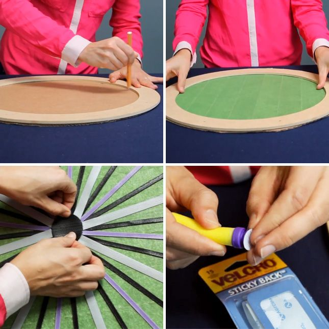 How to make your own velcro dartboard