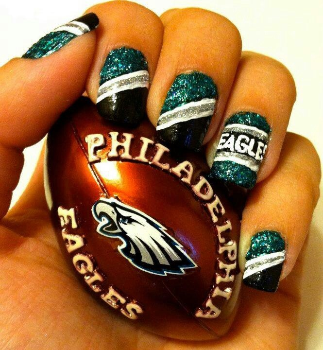 Fan nail art. Football ... - Best 25+ Football Nail Art Ideas On Pinterest Football Nail