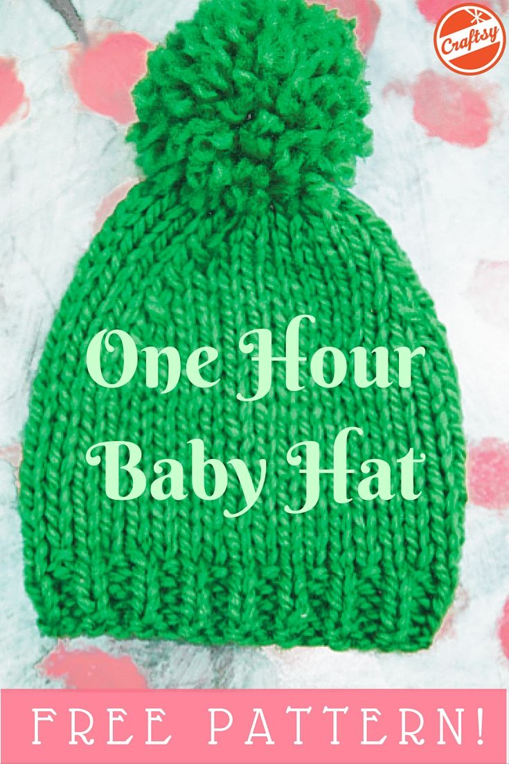 A one hour baby hat project? That's right! Even better — the pattern is FREE.