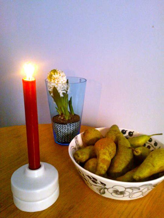 The 1st of December and the first Advent.  Iittala, Arabia, Finnish desing  http://lovissa.com/2013/12/01/1/