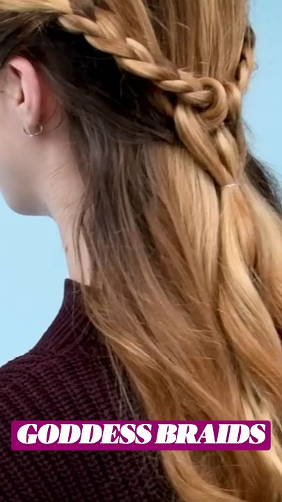 Cool Braid Hairstyles, Hairdos, Pretty Hairstyles, Updos, Hair Up Styles, Cool Braids, Goddess Braids, Aesthetic Hair, Dream Hair