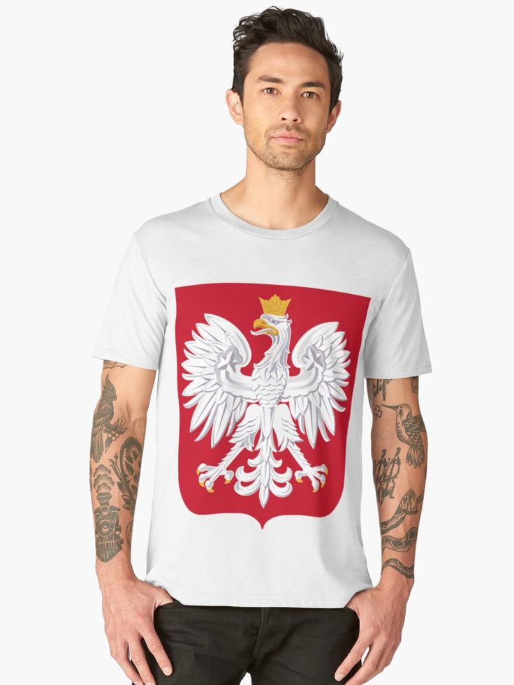 Coat of arms of Poland by planetterra Mens tops, T shirt, Ch