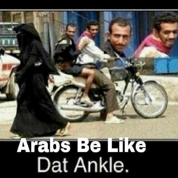 Twitter / FunnyPicsDepot: Arabs be like.. DAT ANKLE! ...