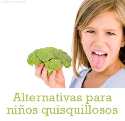 ¿Cómo remplazar los nutrientes de la Zanahoria, brócoli, espinaca y lechuga si a tus pequeños no les gusta comerlos? Haz clic para ver nuestro artículo. http://serpadres.com/cocina/cocina-nutricion/alternativas-para-ninos-quisquillosos/