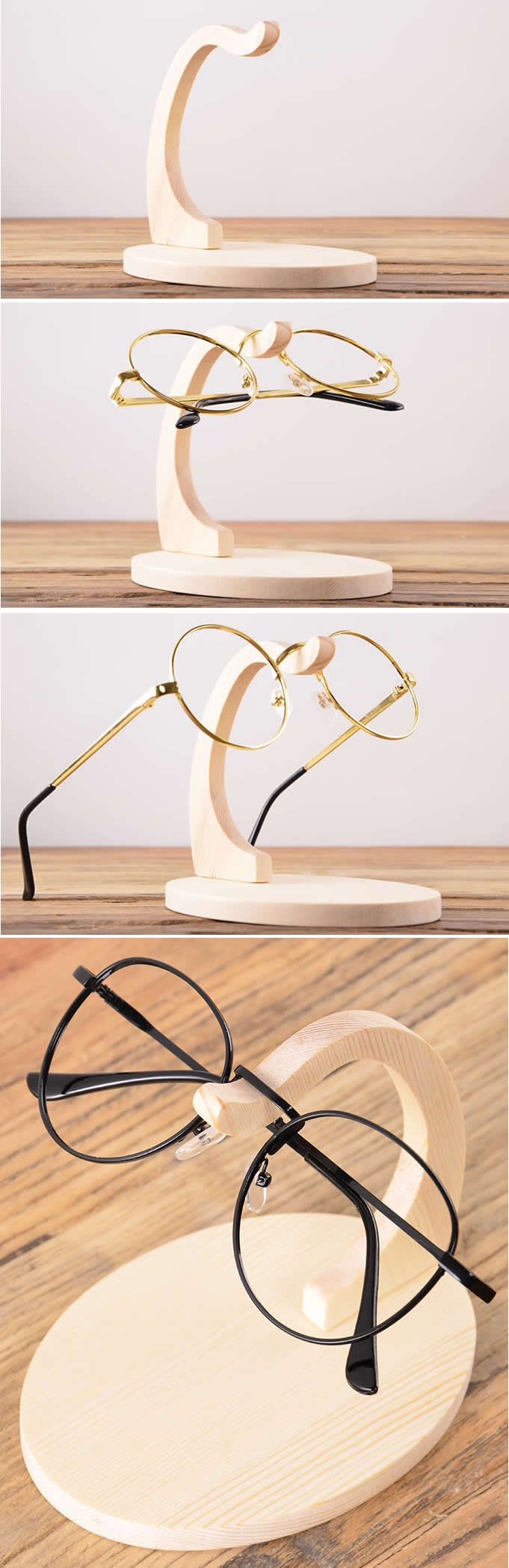 Wooden Eyeglass Sunglasses Display Stand Holder