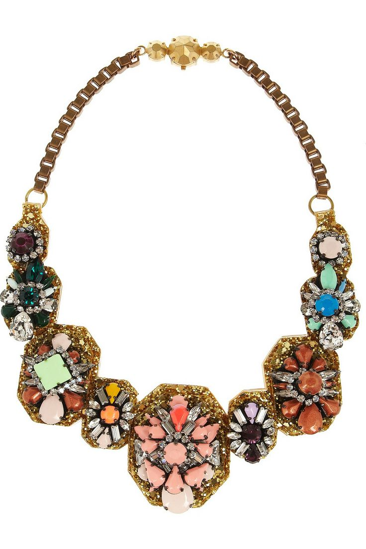 Shourouk | Santa Maria bronze-plated Swarovski crystal necklace