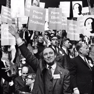 April 6, 1968. Pierre wins the leadership of the Liberal party.