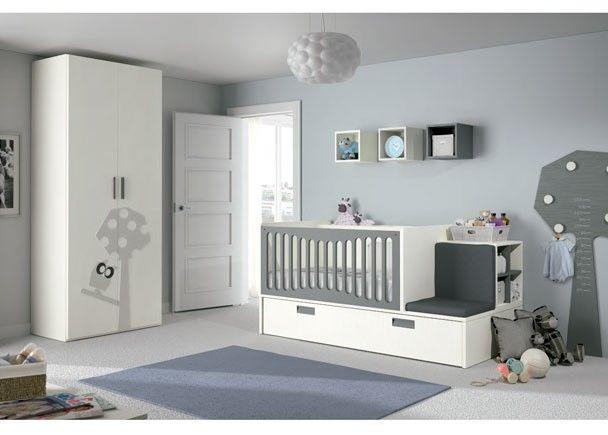 Dormitorio bebé con cuna convertible lactancia