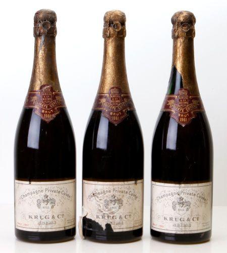 Champagne, Krug Vintage Champagne 1961
