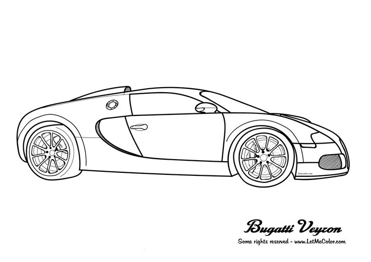 Bugatti chiron coloring pages coloring coloring pages for Bugatti chiron coloring page