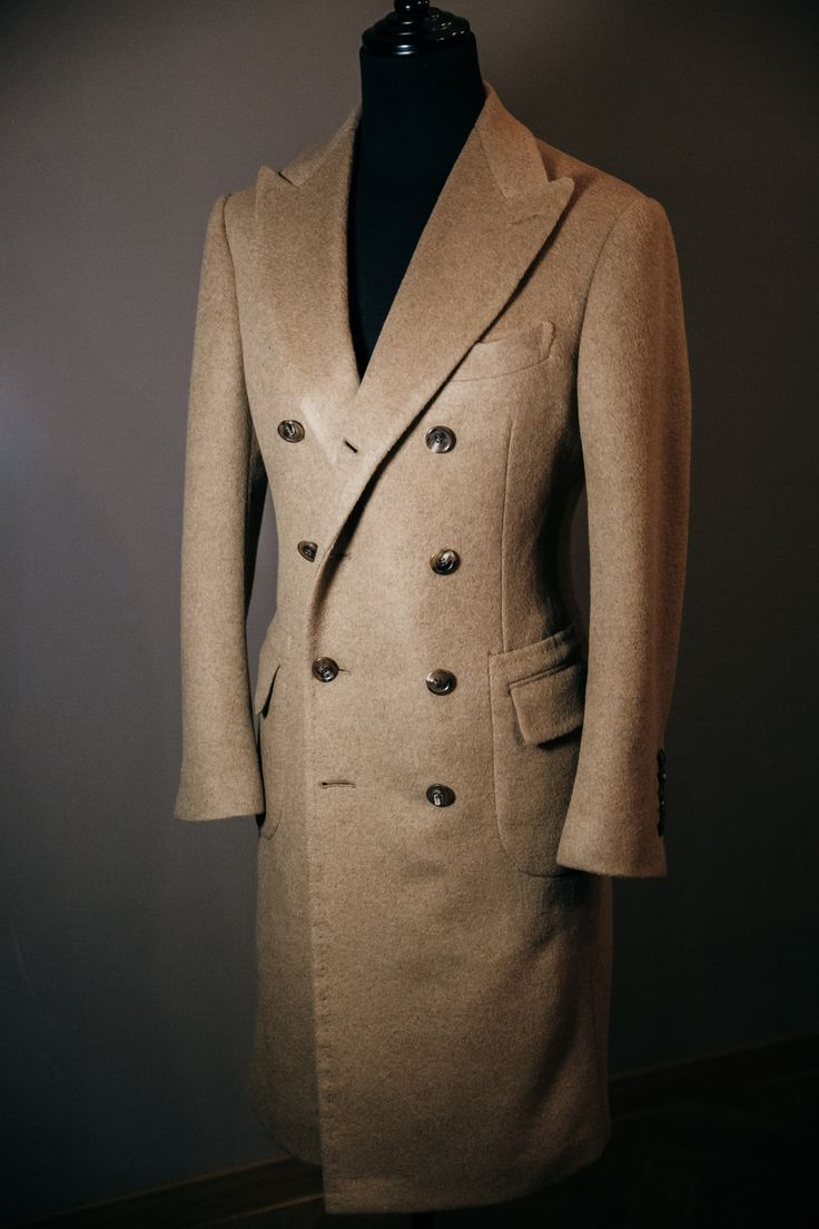 Double breasted camel coat Harrisons