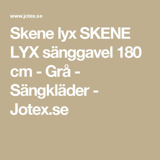 Skene lyx SKENE LYX sänggavel 180 cm - Grå - Sängkläder - Jotex.se
