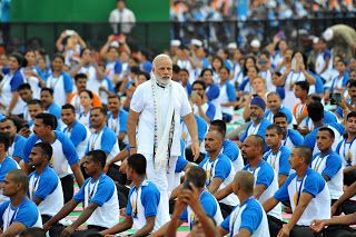 """Yoga is cheap health insurance"", says PM; Launching the 3rd International Yoga in UP"