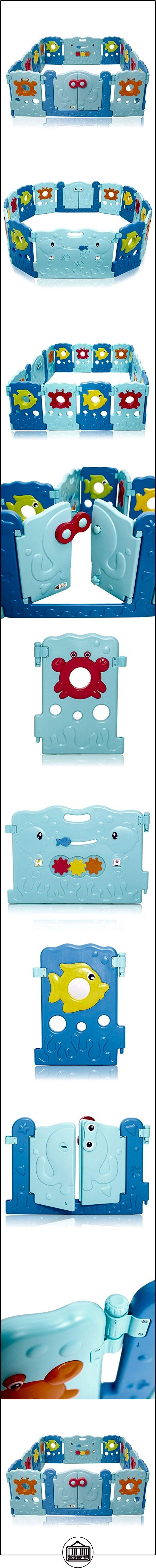 BABY VIVO Parque corralito plegable puerta robusto plastico bebe barrera de seguridad jugar Sea World  ✿ Seguridad para tu bebé - (Protege a tus hijos) ✿ ▬► Ver oferta: http://comprar.io/goto/B06XCGPTHX