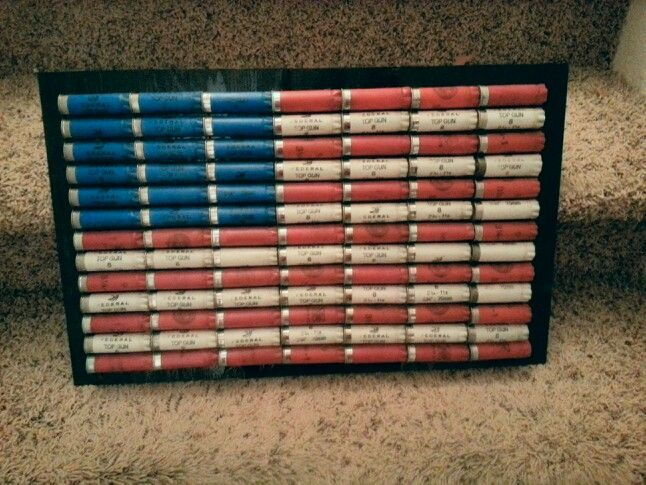 Shotgun shell American flag                                                                                                                                                                                 More
