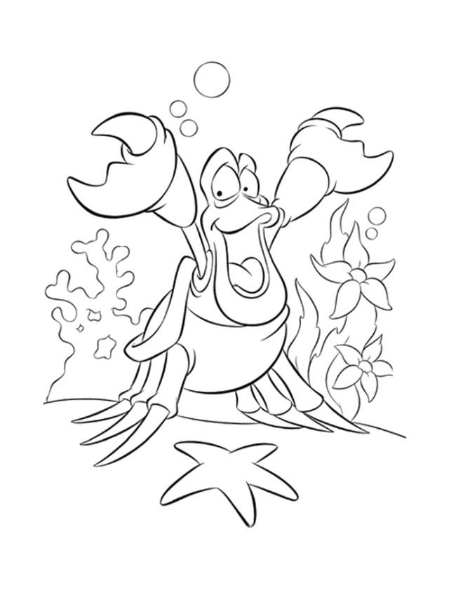 Disney Coloring Pages Ariel The Little Mermaid Coloring Page