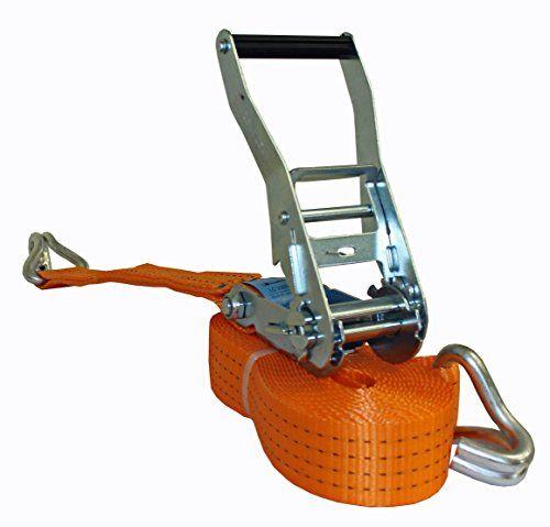 Zurrgurte Spanngurte mit Ratsche 4000 kg 2000daN 2-teilig Spitzhaken orange 12 m