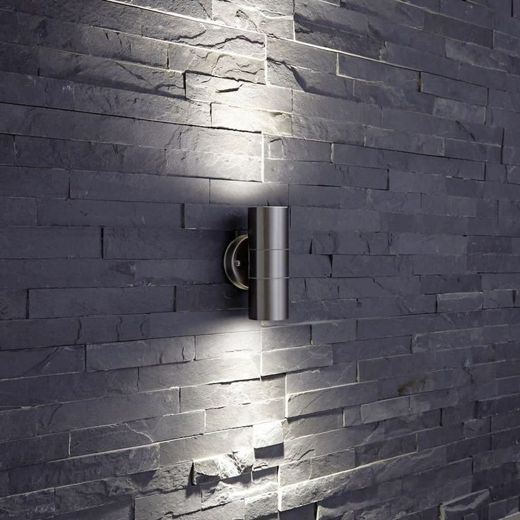 Biard Le Mans Stainless Steel Up Down Wall Light Garden