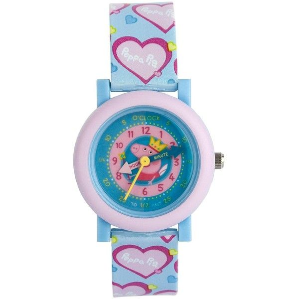 Peppa Pig Time Teacher Childrens Watch (285 EGP) ❤ liked on Polyvore featuring jewelry, watches, peppa pig and dial watches