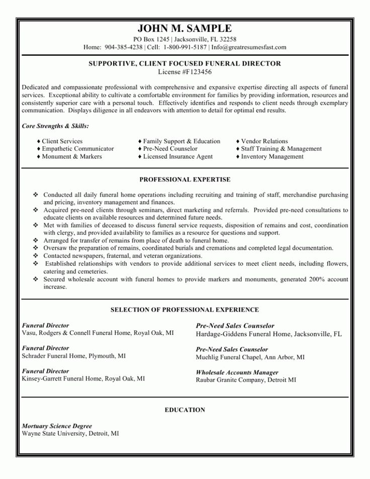 14 Resume Format Phrase File For Gross sales Government in