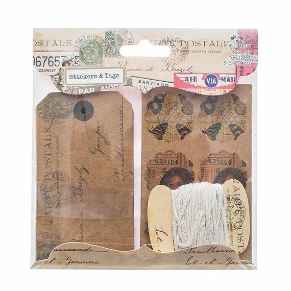 Tags and Stickers Set Vintage Travel Theme by LittlePaperCircus