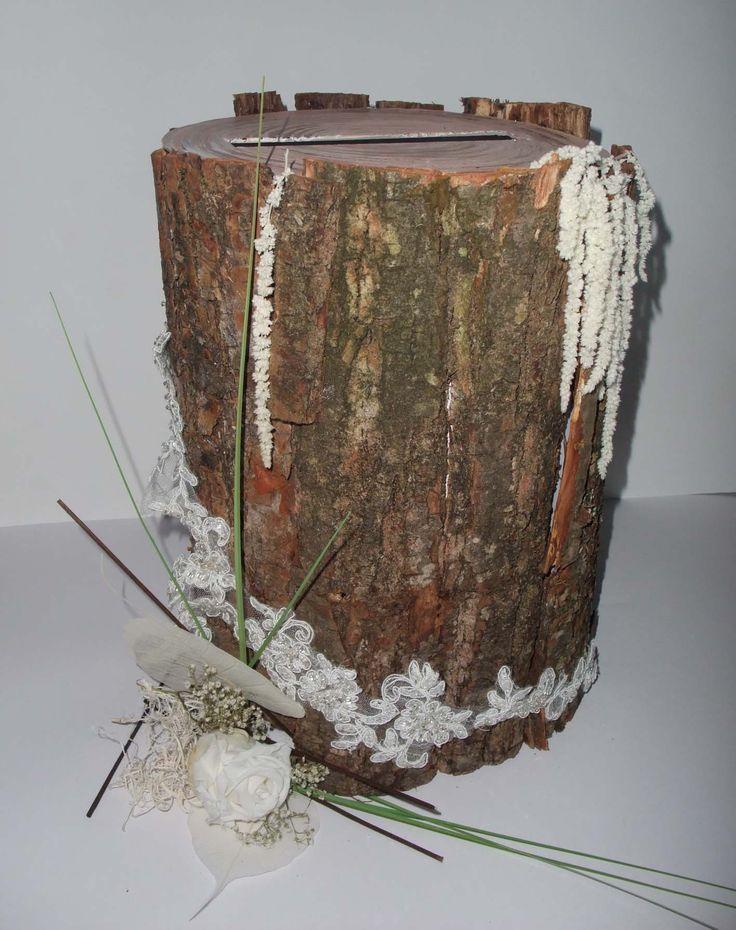 Urne mariage thème champêtre chic http//www.artquange.kingeshop.