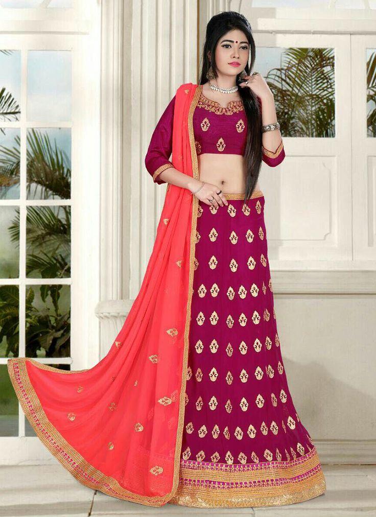 wedding wear  Designer silk lehenga choli