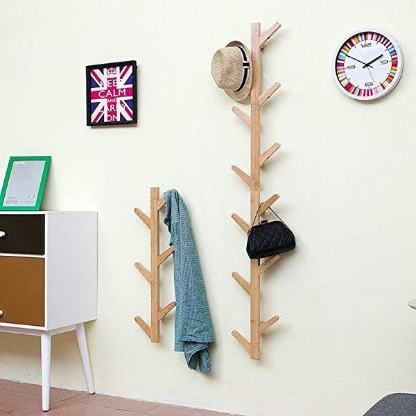 WEII Porte-manteau mural en bois massif /à suspendre pour salon porte-serviettes d/écoration chambre /à coucher