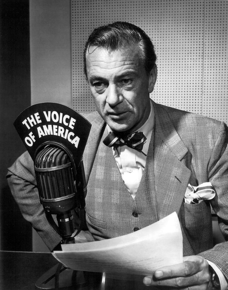 Gary Cooper  | The Voice of America - radio broadcast
