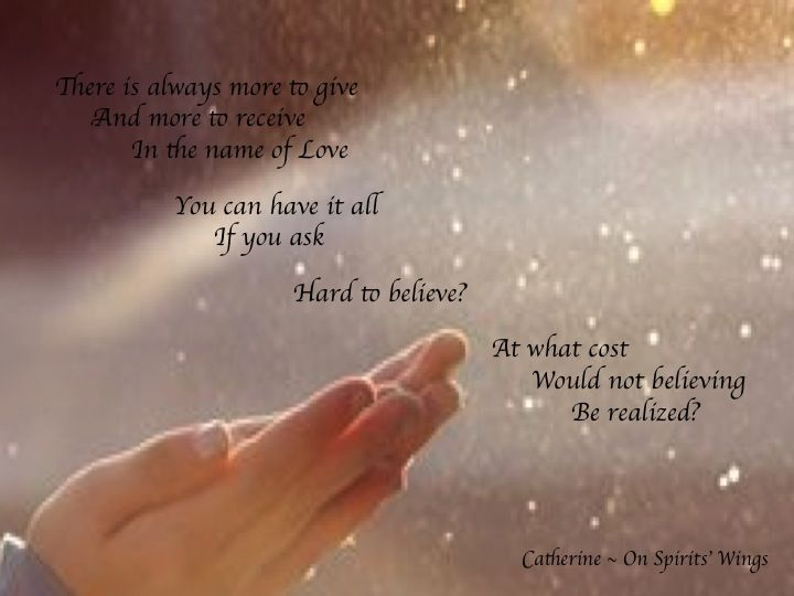 SPIRIT ON GIVING AND RECEIVING LOVE