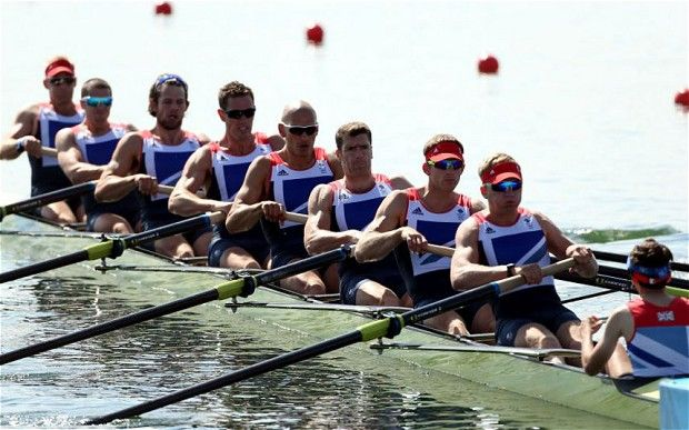 Britian Eights Rowing Team - Bronze Medal winners: Alex Partridge (bow/1), James Foad (2), Tom Ransley (3), Ric Egington (4), Moe Sbihi (5), Greg Searle (6), Matt Langridge (7), Constantine Louloudis (stroke/8) & Phelan Hill (cox)